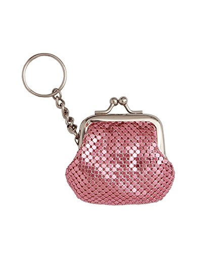 whiting-and-davis-classic-mesh-key-ring-coin-purse-pink