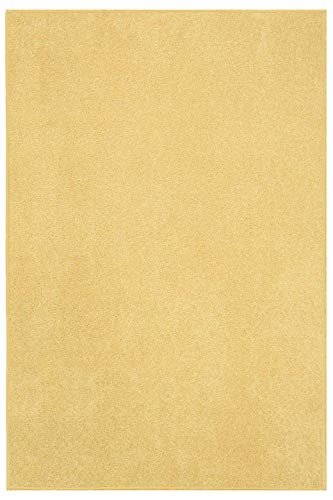 Home Queen Kids Solid Color Yellow Area Rug - 6