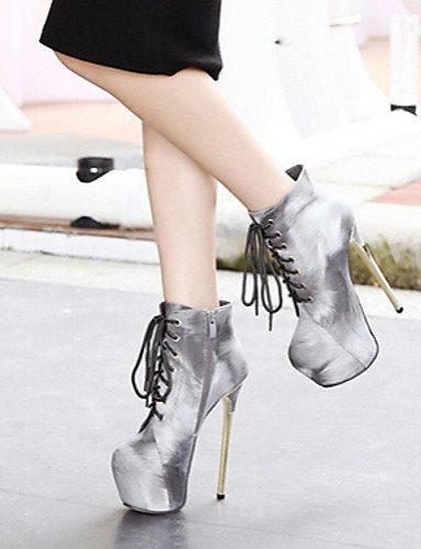Marrón Cn37 Eu37 Gray Mujer Tacón Gris Gray Xzz 5 Botas Cn39 Zapatos Uk6 Casual us8 5 Eu39 5 Semicuero Uk4 De us6 7 Stiletto Tacones R4PqSxzPn