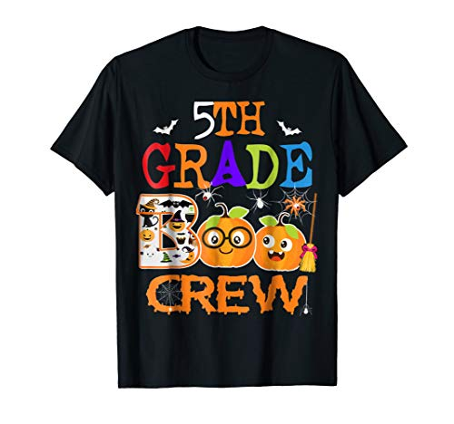 5th Grade Boo Crew Teacher Gift Tshirt Halloween Costume