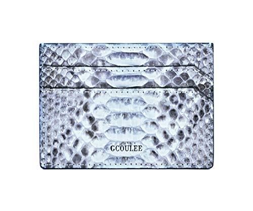 (Card holder men's wallet card case leather pocket wallet luxury men's cardholder white natural wallet business card case small credit card wallet business card holder wallet snakeskin wallet)
