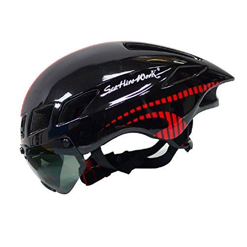 Anharluka-RoadMountain-Bike-Helmet-with-Detachable-Magnetic-Shield-Visor-Goggles-Multi-sport-Professional-Cycling-Helmet-for-Adult-Sleek