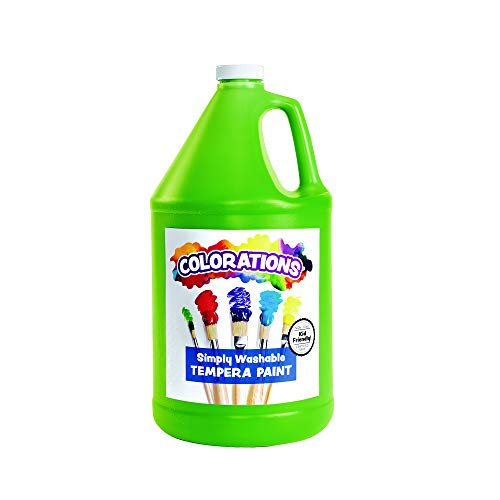 Colorations Washable Tempera Paint, Gallon, Apple Green, Non Toxic, Vibrant, Bold, Kids Paint, Craft, Hobby, Fun, Art Supplies (Item # GWSTAP)
