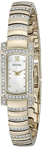 Bulova Women's 98L204 Crystal Analog Display Japanese Quartz Two Tone (Movement Two Tone Diamond)