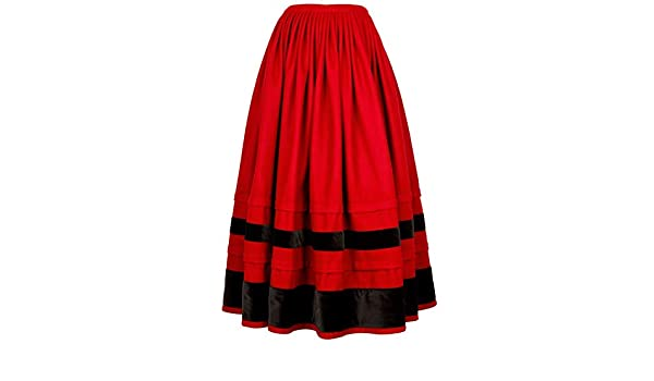 Falda regional, típica tradicional. Mod. Chantada.: Amazon ...