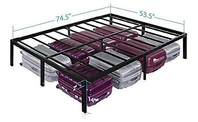 "Olee Sleep OL14BF04T 14"" T-3000 Heavy Duty Steel Slat/Non-Slip Support Bed Frame from Olee Sleep"