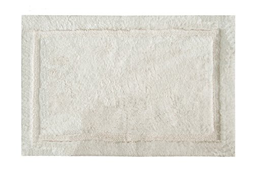 Grund Asheville Series 100% Organic Cotton Bath Rug, 17-Inch by 24-Inch, Ivory