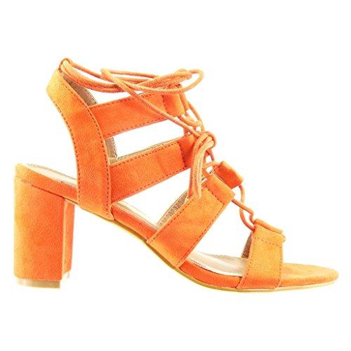 Zapatos naranjas Angkorly para mujer mlaNiKAAsr