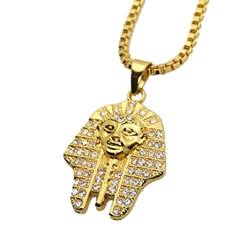 ZeeMoe Golden Color Pharoah/Sphinx Egypt Pendant Necklace with Chain