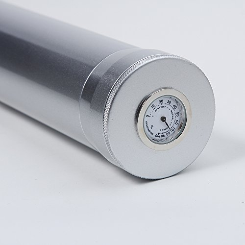 Aluminum Travel Cigar - New White Aluminum Travel Cigar Tube Jar Humidor Hygrometer Humidifier