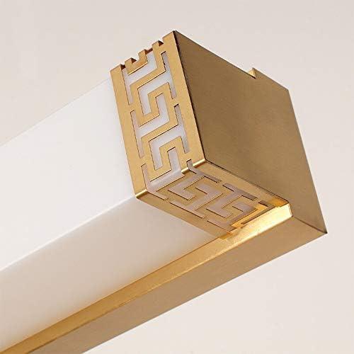 Living Lights parete della stanza Copper Bathroom Specchio Lampada, lungo Dressing Table Apparecchio di illuminazione, (Color : White)