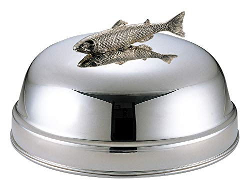三宝産業 サービングカトラリー シルバー 40cm 丸皿カバー 魚ツマミ付 02503424   B001V5NFFK