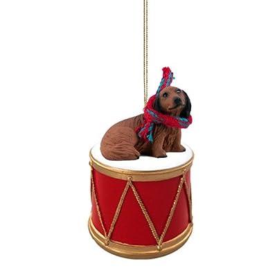 Animal-Den-Little-Drummer-Longhaired-Dachshund-Christmas-Ornament-Hand-Painted-Delightful