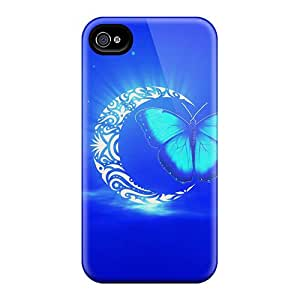 Tpu Henrydwd Shockproof Scratcheproof Butterfly Holy Moon Hard Case Cover For Iphone 4/4s
