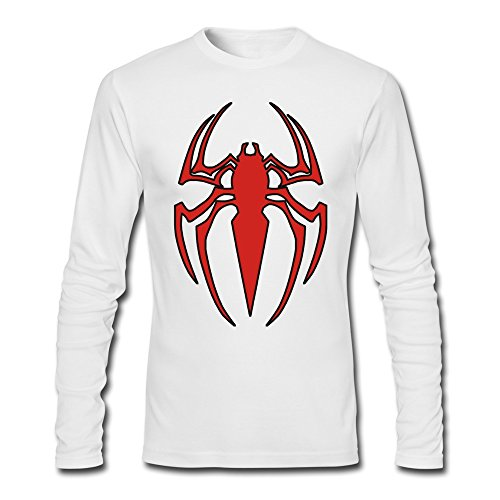 Men's Ultimate Spider Man Characters T-shirt Long Sleeve White