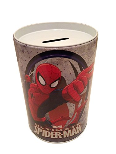 Spider Man Bank - Spider Man Coin Bank for Kids - Red on White