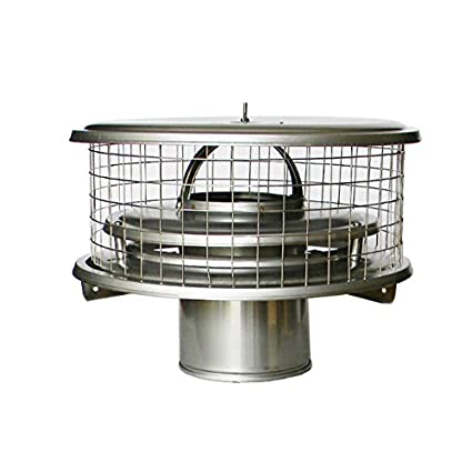 8u201d Stainless Steel WeatherShield Chimney Cap TDW for Air Cooled Chimney Pipe  sc 1 st  Amazon.com & Amazon.com: 8u201d Stainless Steel WeatherShield Chimney Cap TDW for Air ...