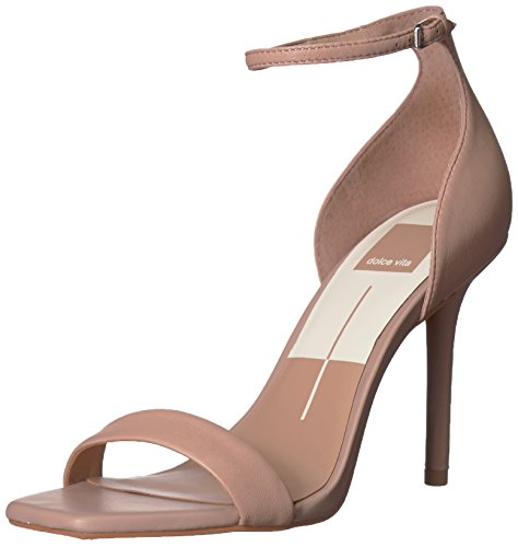 Dolce Vita Women's Halo Heeled Sandal, Blush Leather, 8 Medium US by Dolce Vita