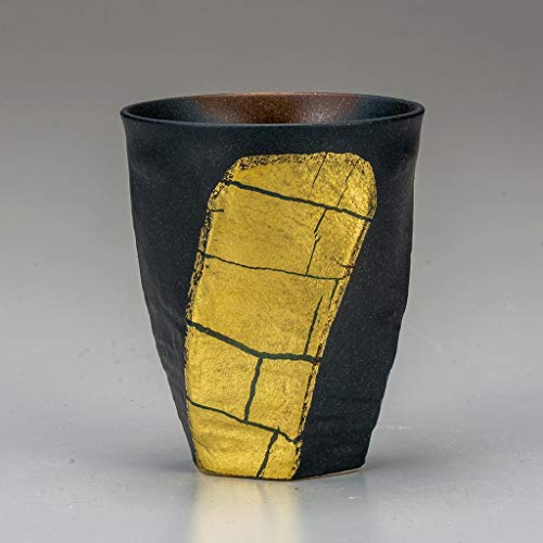 Drink cup. Gold leaves.Japanese porcelain Kutani ware. Tableware. ktn-k6-1040