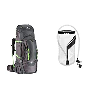 High Sierra 53716-5240 Tech Series Titan 65 Frame Backpack, Mercury/Lime with 3L Reservoir