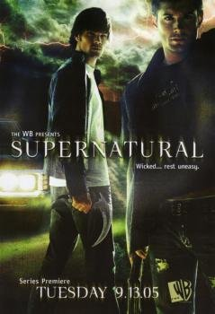 Promotional 2005 TV **PRINT AD** For Supernatural With Jared Padalecki & Jensen A...