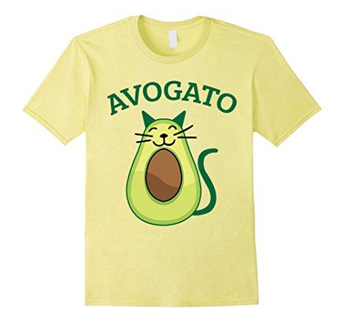 Mens Avogato Avocado Cat Kitty Funny Meow Cinco De Mayo T-Shirt 3XL Lemon