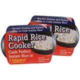 Rapid Rice Cooker - Microwave Instant / Minute Rice In Less Than 3 Minutes - 2 Pack
