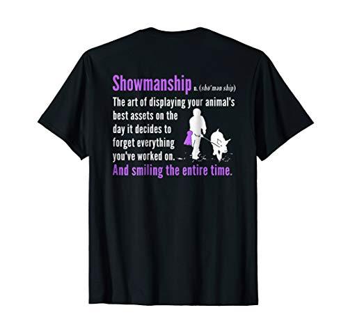 Show Pig Showmanship Shirt Livestock Showing Back Print