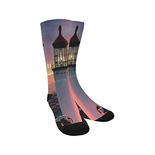 (Unique Debora Custom Hosiery Knee-High Socks Leg Warmers for Unisex with The Lighthouse)