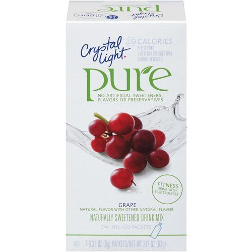 Crystal Light On The Go Pure Grape, 7-Count Boxes (Pack of 4)