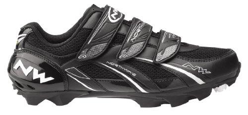 Nortwave Sparta - Zapatillas para ciclismo, (cierres de velcro), color negro negro negro Talla:45 negro - negro