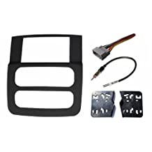 Dodge Ram (1500, 2500, 3500) Radio Stereo Double Din Navigation Black Bezel Installation Kit (2002 2003 2004 2005) by Custom Install Parts