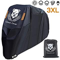 *****About Size***** The size of your bike is less than 2-4 inch than the cover, it is most suitable,so measures size before you pruchase please,Thank You!ClawsCover founder Evan is a motorcycle rider,we have focus on produce outdoor covers,w...