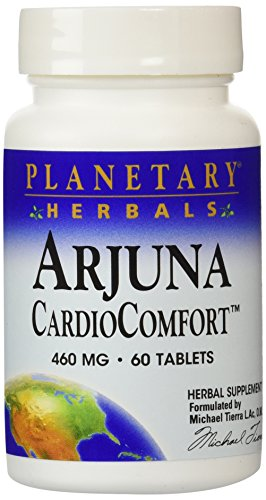 Planetary Herbals Arjuna Cardio Comfort Tablets, 460 mg, 60 Count ()