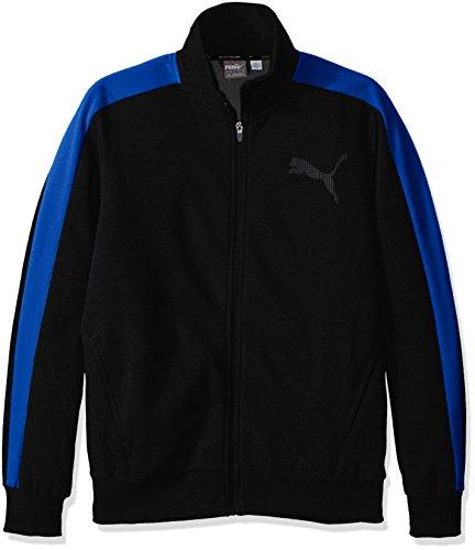 PUMA Men's Cb P48 Core Track Jacket Fleece, Cotton Black/Puma Royal, X-Large