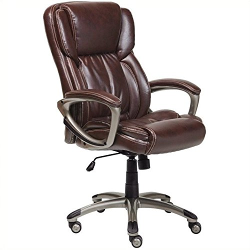 Serta Bonded Leather Executive Chair, Brown