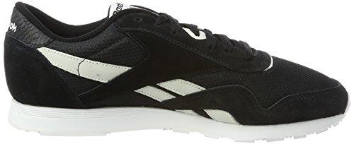 Reebok Damen Klassieke Nylon Fbt Sneaker Schwarz (zwart / Wit / Blauw / Elektrisch Flits)