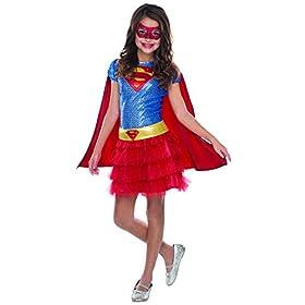 - 416gXLYukfL - Rubie's Costume DC Superheroes Supergirl Sequin Child Costume