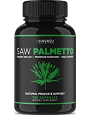 Saw Palmetto Supplement for Prostate Health - Supports Those with Frequent Urination - Supports DHT Blocker & Hair Loss Prevention - Gluten Free; Non-GMO, 100 Capsules