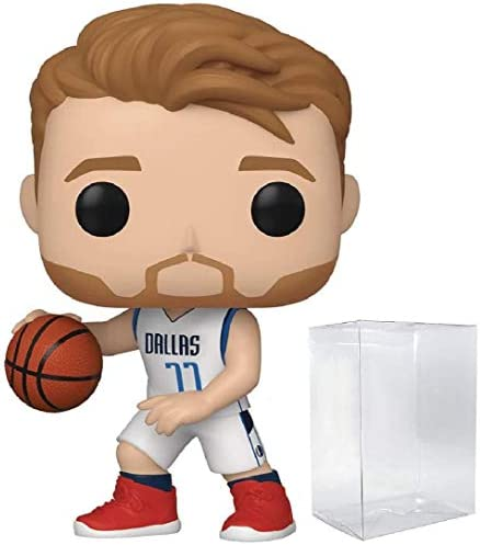 POP! Sports NBA Luka Doncic Dallas Mavericks Action Figure (Bundled with Pop Protector to Protect Display Box)