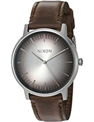 Nixon Mens Porter Quartz Stainless Steel and Leather Casual Watch, Color:Brown (Model: A10582594-00)