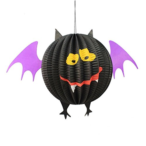 Halloween Decoration,Elevin(TM)2017 Happy Halloween Festival Party Decor Hanging Ghost Spider Bats Paper Decoration Pendant (A) (Funny Diy Halloween Costumes 2017)
