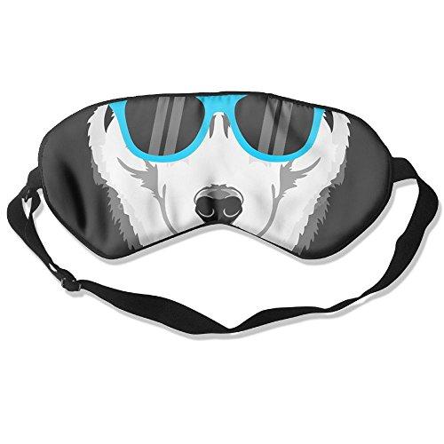 ZHYPMNU Sleeping Mask Siberian Husky Dog Unisex Eyepatch Mask Eye Cover ()