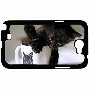 Customized Back Cover Case For Samsung Galaxy Note 2 Hardshell Case, Back Cover Design Cat Personalized Unique Case For Samsung Note 2 Kimberly Kurzendoerfer
