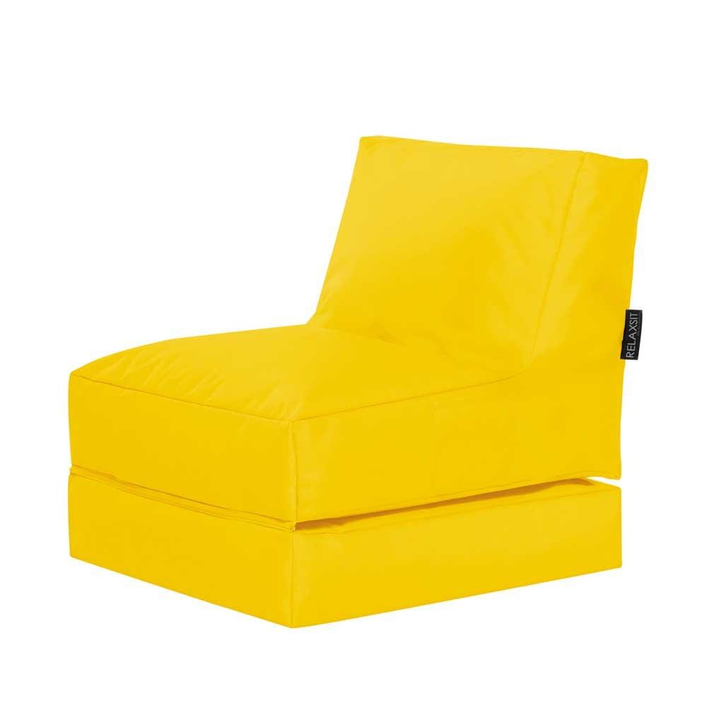 Pharao24 Sitzsack Liege in Gelb Outdoor