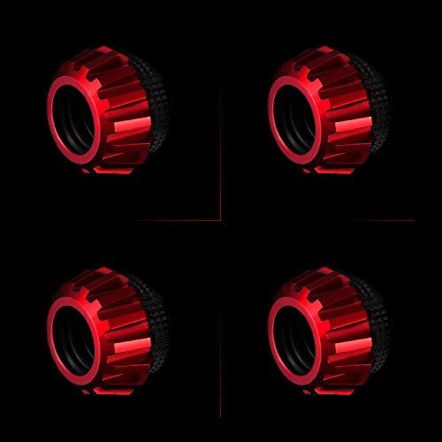 Red Bykski Rigid 12mm OD Fitting 4 Pack