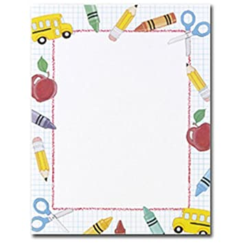 school stuff kids themed computer printer paper - Kids Printing Paper