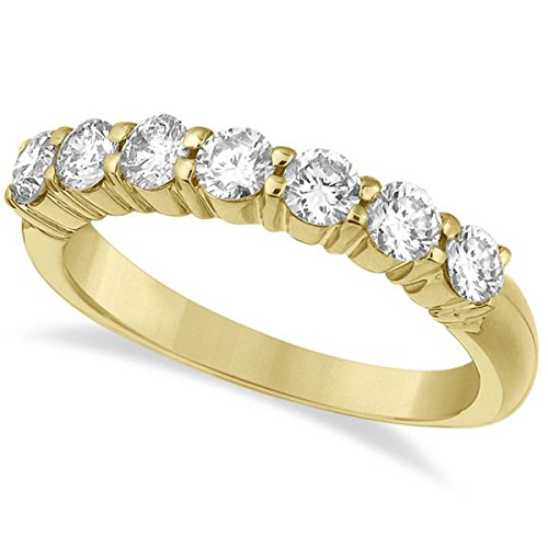 Seven-Stone Diamond Anniversary Ring Band 14k Yellow Gold (1.00ct)