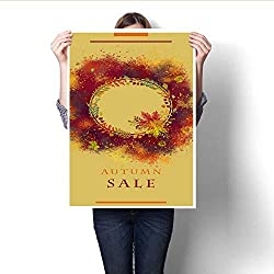 """Wall Art Canvas Prints Autumn Sale Festival Announcement Template in Spice Colors Print Paintings for Home Wall Office Decor 32""""x36"""""""