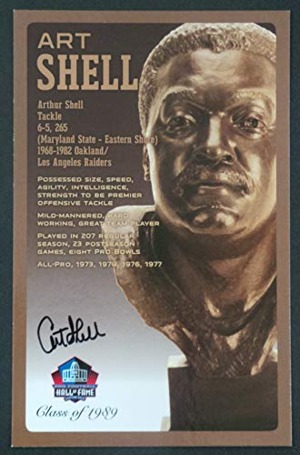 Pro Football Hall of Fame Art Shell Signed Bronze Bust Set Autographed Card with COA (Limited Edition # of 150) ()